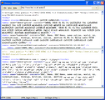 screenshot of html2xml application